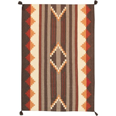 Navajo Hand-Knotted Brown/Beige Area Rug