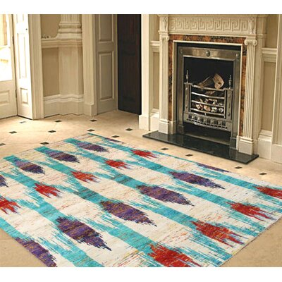 Venice Hand Knotted Silk Transitional Area Rug Rug Size: 5 x 8