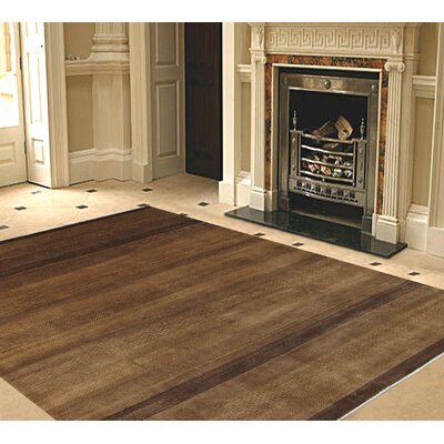 Gabbeh Hand-Knotted Brown Area Rug Rug Size: 61 x 810