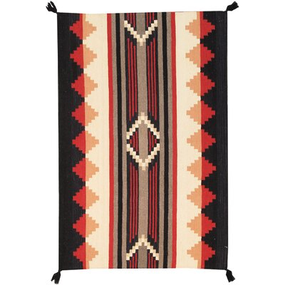 Navajo Hand-Knotted Gray/Black Area Rug Rug Size: 4 x 61