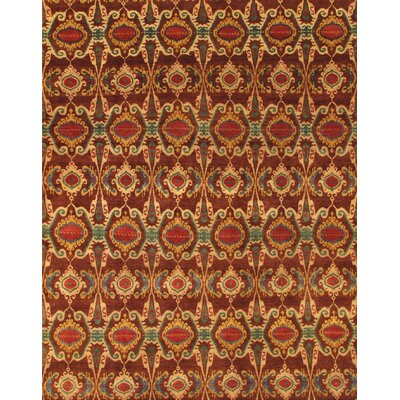 Ikat Hand-Knotted Brown/Beige Area Rug