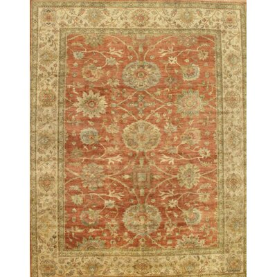 Sultanabad Coral/Beige Area Rug Rug Size: Rectangle 9 x 12