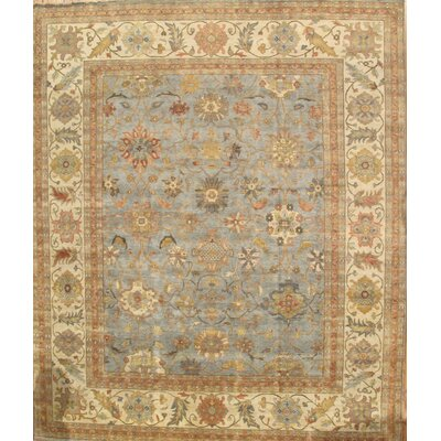 Sultanabad Light Blue/Ivory Area Rug Rug Size: 6 x 9