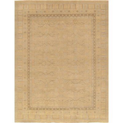 Khotan Hand-Knotted Beige Area Rug Rug Size: 10' x 14'