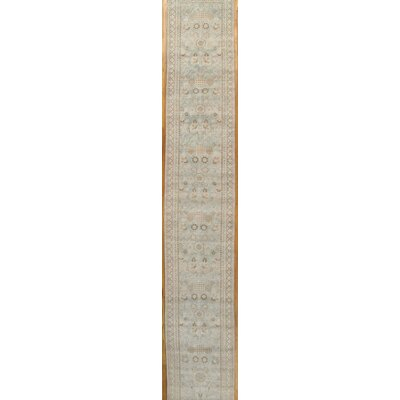 Khotan Hand-Knotted Light Blue/Ivory Area Rug