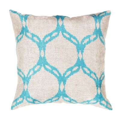 Ikat Velvet Throw Pillow