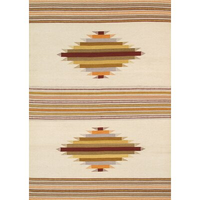 Kilim Hand-Woven Cream/Brown Area Rug