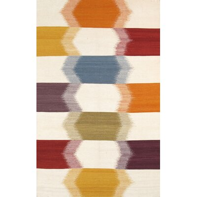 Kilim Hand-Woven Orange/Brown Area Rug