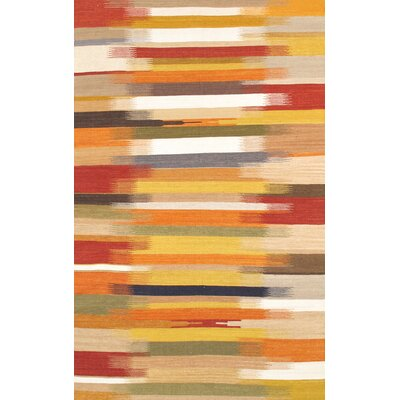 Kilim Hand-Woven Yellow/Orange Area Rug