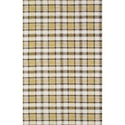 Kilim Hand-Woven Yellow/Black Area Rug