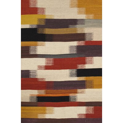 Kilim Hand-Woven Black/Brown Area Rug