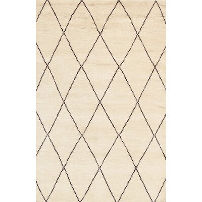 Casablanca Moroccan Hand-Knotted Ivory Area Rug