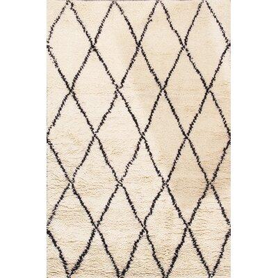 Casa Milano Moroccan Hand-Woven Ivory Area Rug