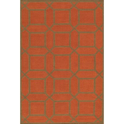 Kilim Hand-Woven Rust/Brown Area Rug Rug Size: 89 x 119