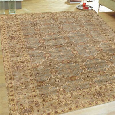 Sultanabad Light Blue/Ivory Area Rug Rug Size: Rectangle 9 x 12