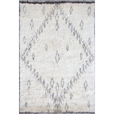 Moroccan Wool Hand-Knotted Beige Area Rug