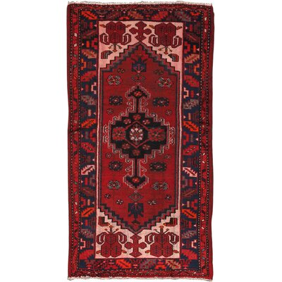 Shiraz Vintage Lambs Wool Hand-Knotted Red Area Rug