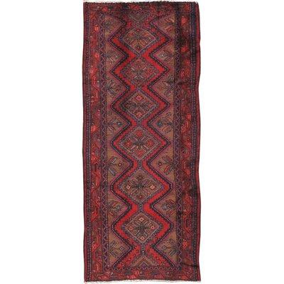 Hamadan Vintage Lambs Wool Hand-Knotted Camel Area Rug