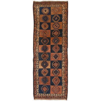 Shiraz Vintage Lambs Wool Hand-Knotted Blue/Brown Area Rug