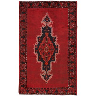Lori Vintage Lambs Wool Hand-Knotted Red Area Rug