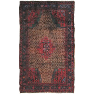 Lori Vintage Lambs Wool Hand-Knotted Camel Area Rug