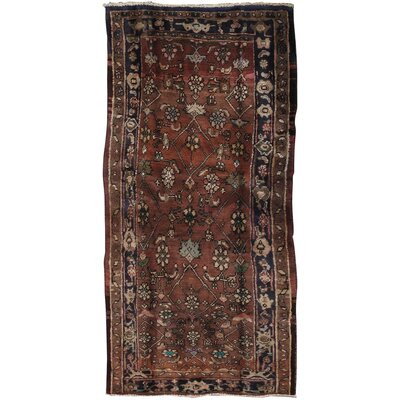 Lori Vintage Lamb's Wool Hand-Knotted Brown Area Rug
