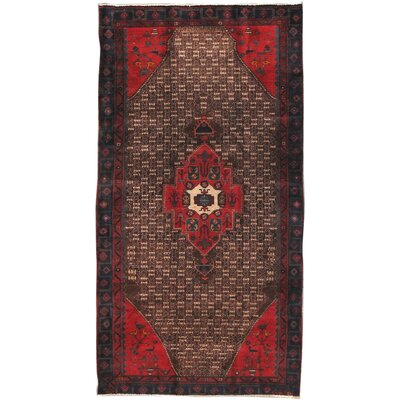 Serab Vintage Lamb's Wool Hand-Knotted Camel/Red Area Rug
