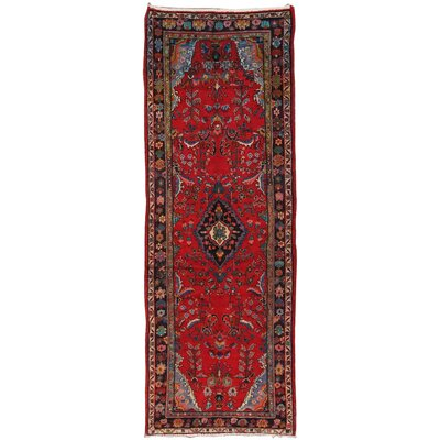 Lilian Vintage Lambs Wool Hand-Knotted Red Area Rug