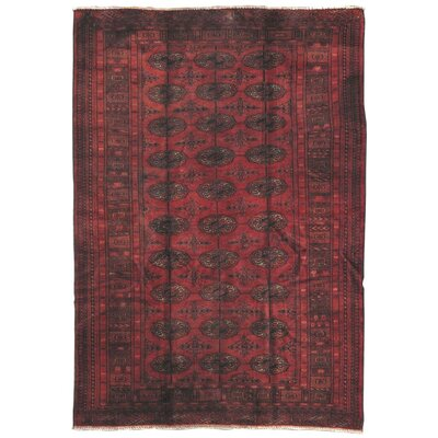 Tekkeh Vintage Lamb's Wool Hand-Knotted Red Area Rug