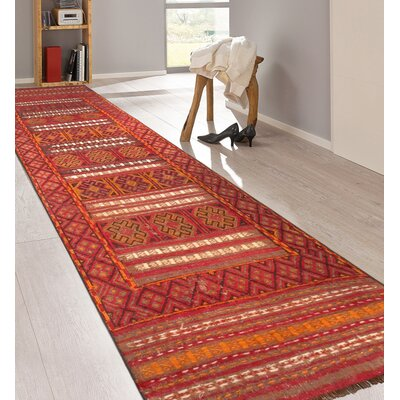 Balouch Vintage Lambs Wool Hand-Knotted Red/Brown Area Rug