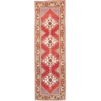 Oushak Lambs Wool Hand-Knotted Brown/Red Area Rug