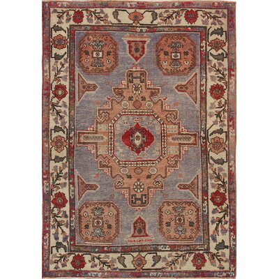 Sivas Lambs Wool Hand-Knotted Brown/Red Area Rug