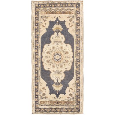 Oushak Lambs Wool Hand-Knotted Beige/Gray Area Rug