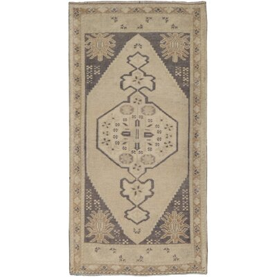 Oushak Lambs Wool Hand-Knotted Beige Area Rug