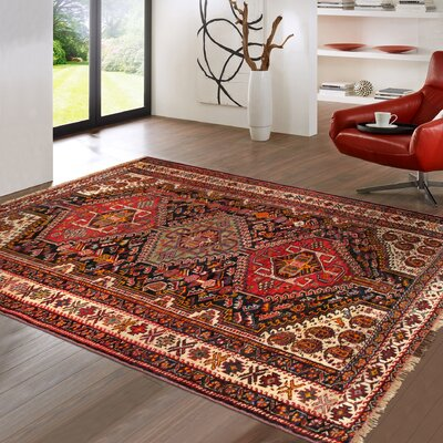 Qashqai Vintage Hand-Knotted Brown/Red Area Rug