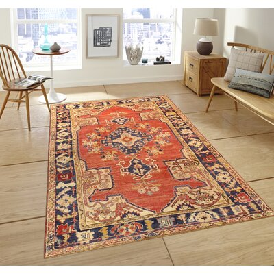 Sivas Hand-Knotted Rust Area Rug