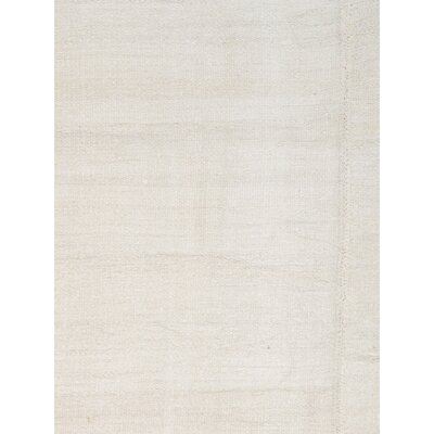 Turkish Kilim Wool Hand-Woven Ivory Area Rug