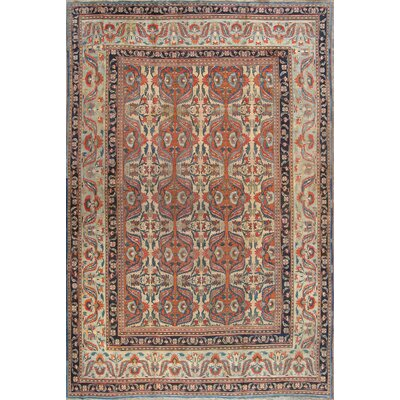 Dorokhsh Wool Hand-Knotted Beige Area Rug