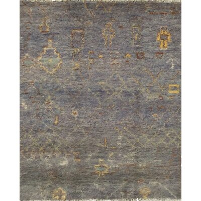 Moroccan Hand-Knotted Gray Area Rug