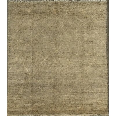 Moroccan Hand-Knotted Taupe Area Rug