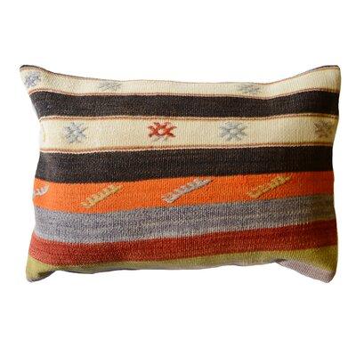 Vintage Turkish 100% Wool Lumbar Pillow