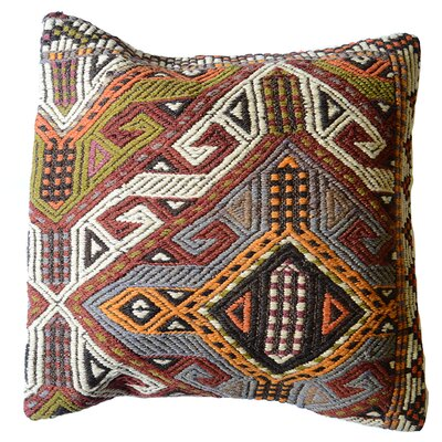 Vintage Turkish 100% Wool Throw Pillow