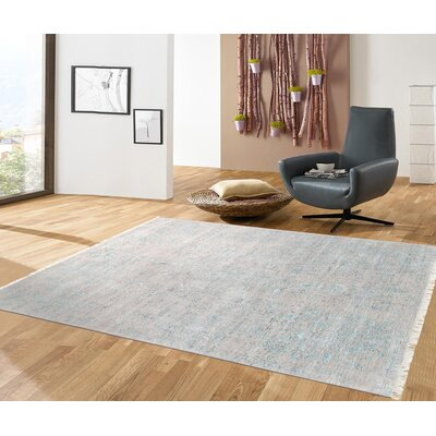 Pasargad Hand-Knotted Silk and Wool Beige Area Rug