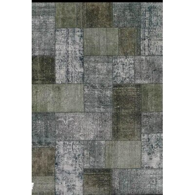 Patchwork Hand Knotted Wool Gray Area Rug
