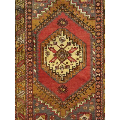 Sivas Vintage Hand Knotted Wool Coral/Gold Area Rug