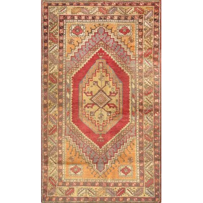 Sivas Vintage Hand Knotted Wool Coral/Light Gold Area Rug