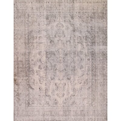 Overdyed Hand Knotted Wool Beige Area Rug