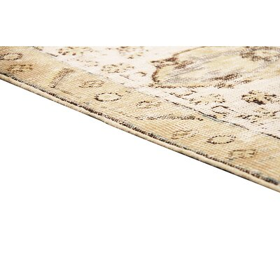 Overdyed Vintage Hand Knotted Wool Camel/Beige Area Rug