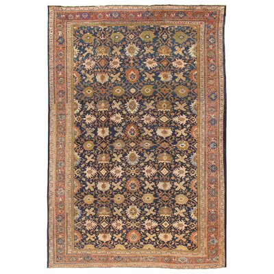 Sultanabad Antique Hand Knotted Wool Navy/Rust Area Rug