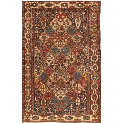 Bakhtiari Antique Hand Knotted Wool Brown/Ivory Area Rug